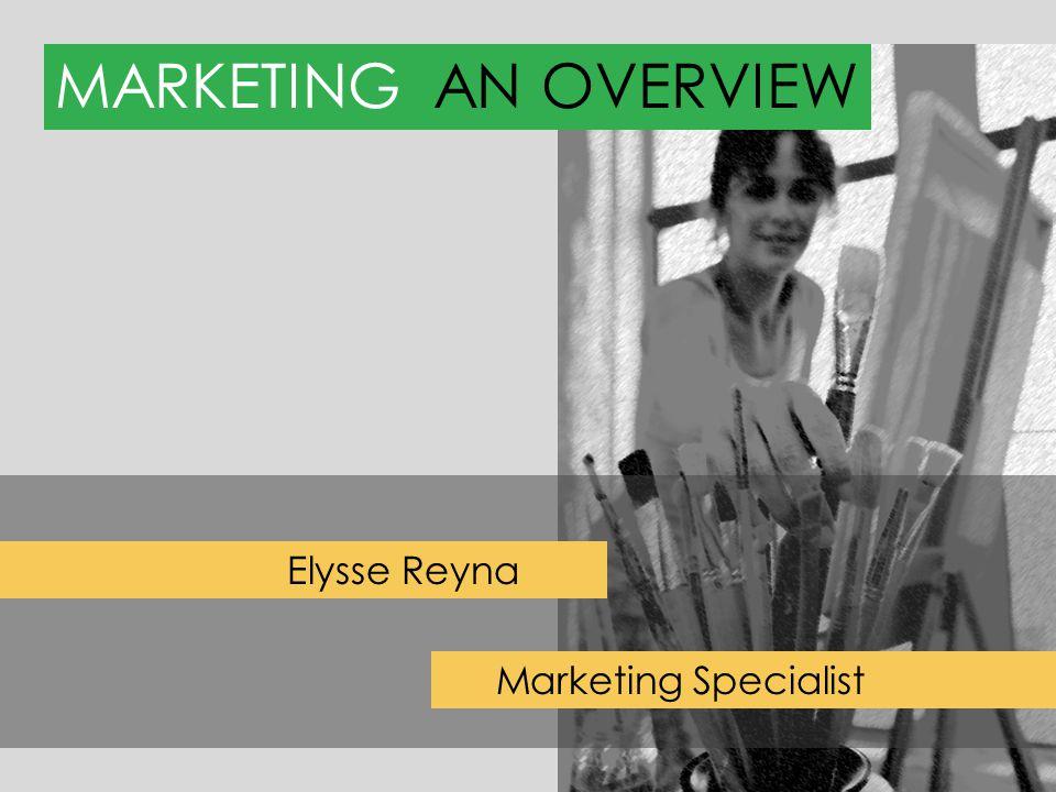 MARKETINGAN OVERVIEW Elysse Reyna Marketing Specialist