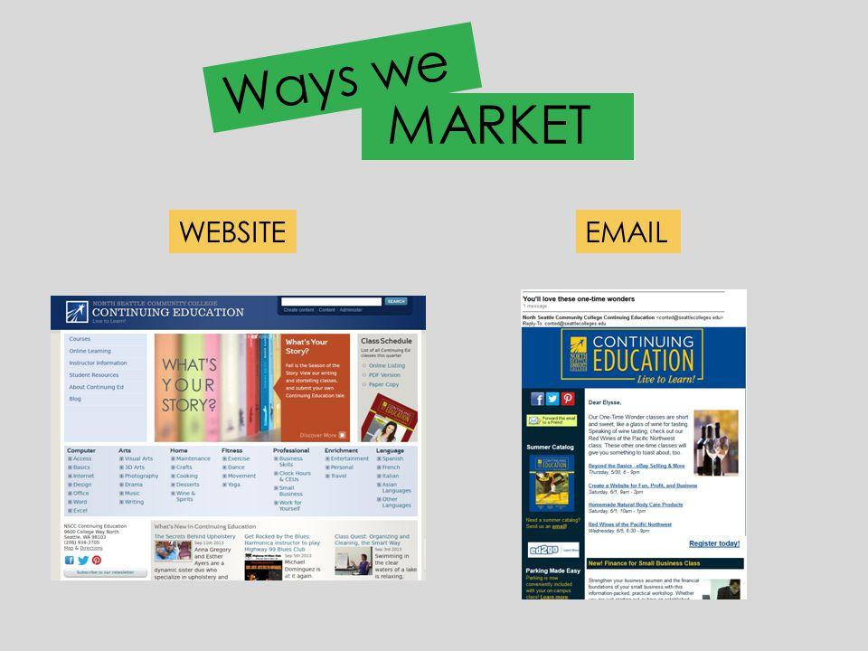 Ways we WEBSITEEMAIL MARKET