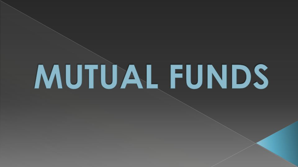 A mutual fund is an investment company that invests its shareholders' money in a diversified portfolio of securities.