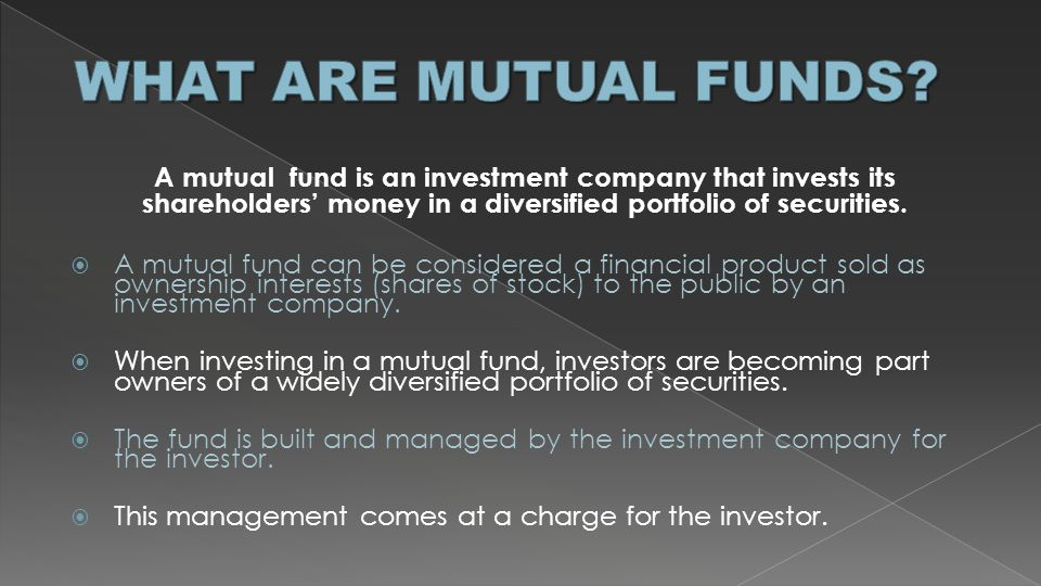  ETF is both diversifiable like mutual funds and tradable like stock  Lower expense ratios than the lowest-cost index mutual funds  Lower minimum investments (can buy one share instead of having to invest $2500 or more – some index funds require $10,000)  More accessible since can trade them with any broker  No surprise in price since traded all throughout the day