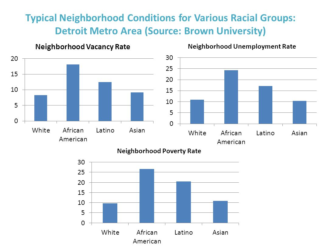 Typical Neighborhood Conditions for Various Racial Groups: Detroit Metro Area (Source: Brown University)