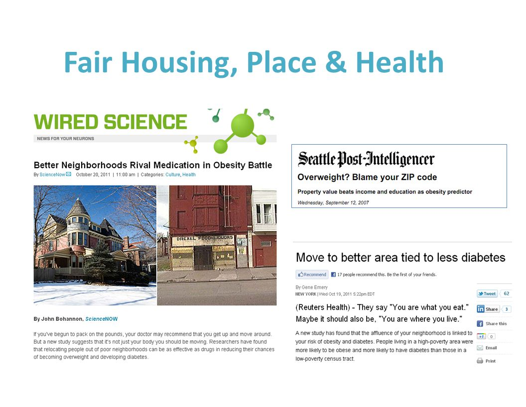 Fair Housing, Place & Health