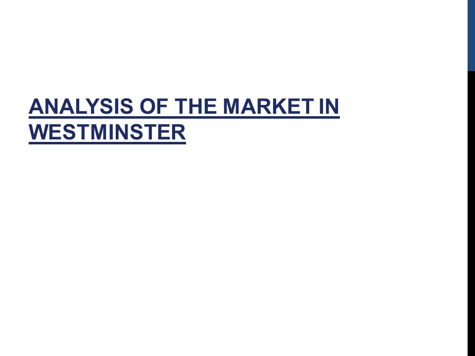 ANALYSIS OF THE MARKET IN WESTMINSTER