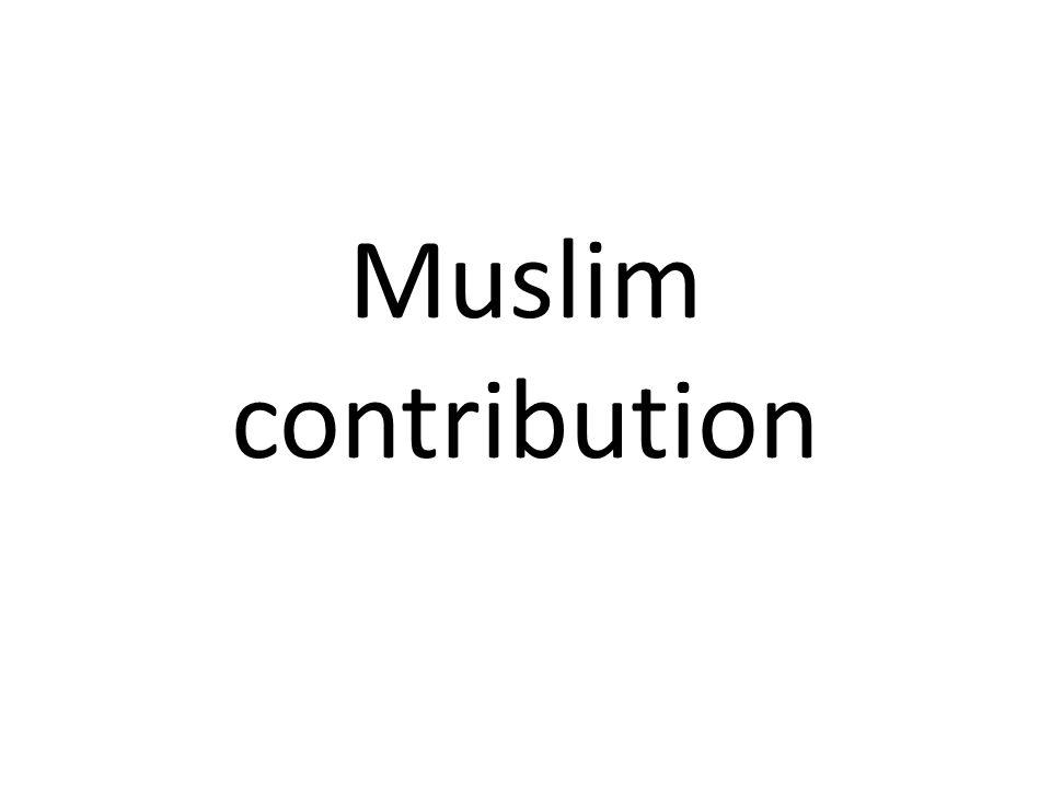 Muslim contribution