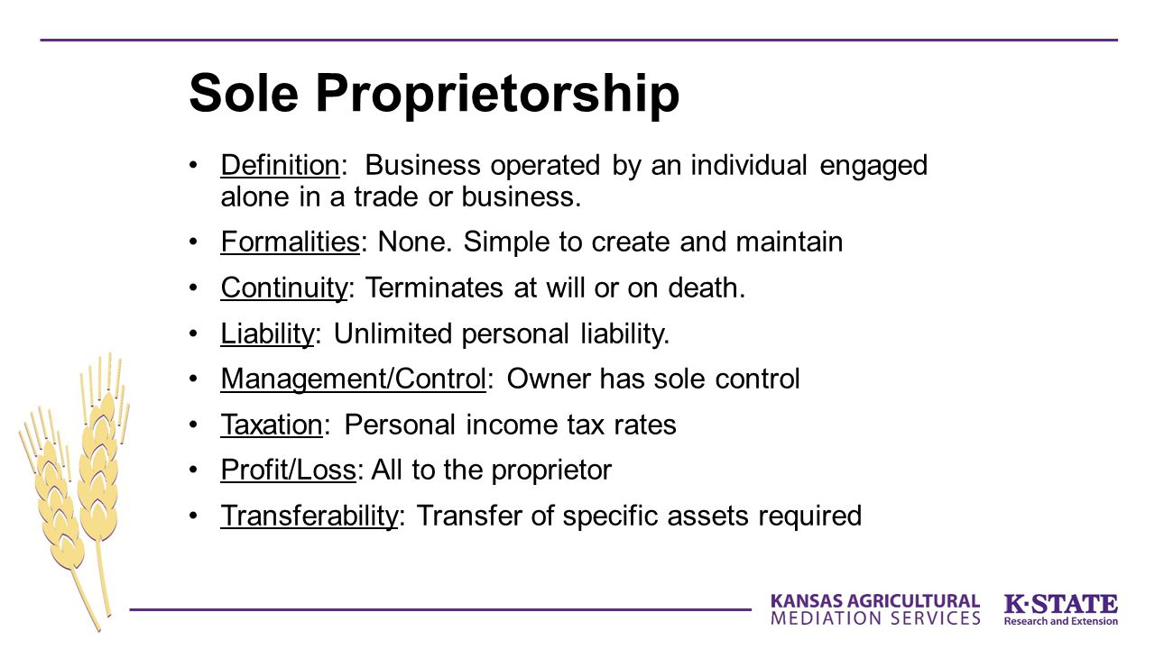 Definition: Business operated by an individual engaged alone in a trade or business.