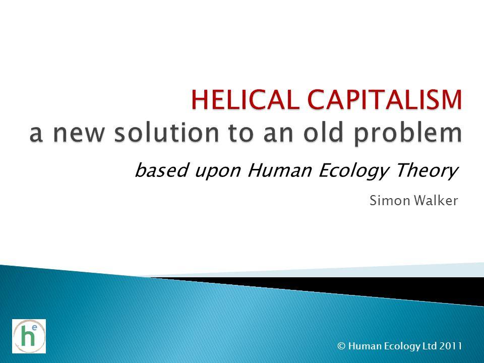 Simon Walker © Human Ecology Ltd 2011 based upon Human Ecology Theory