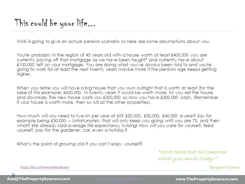 www.ThePropertySourcers.com Ask@ThePropertySourcers.com What if you thought like a profession property investor.
