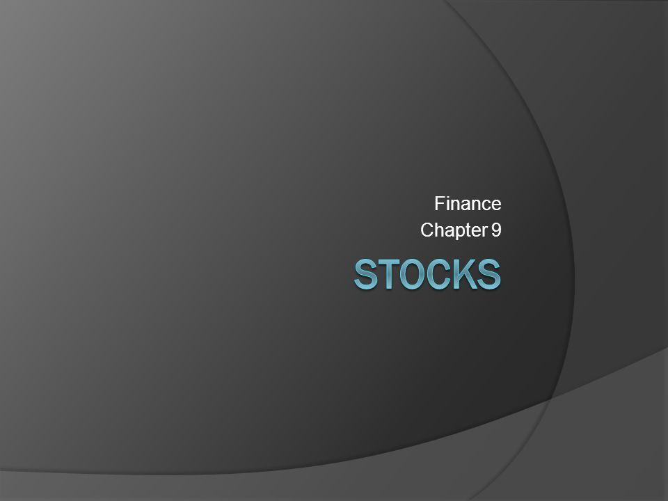 Finance Chapter 9