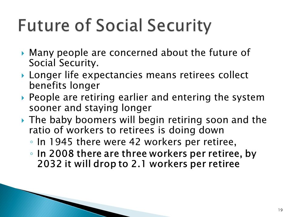  Many people are concerned about the future of Social Security.