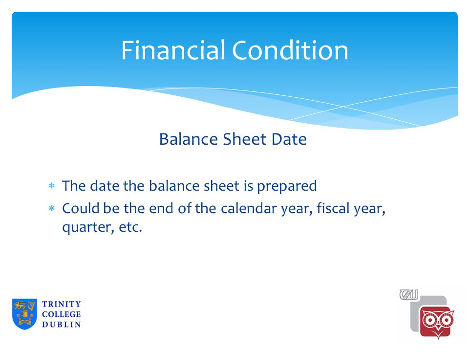 Financial Condition Comparative Data  SEC requires two-year audited balance sheets.