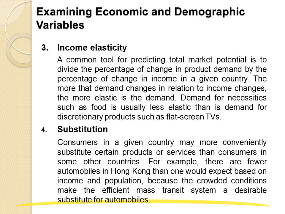 Examining Economic and Demographic Variables 5.