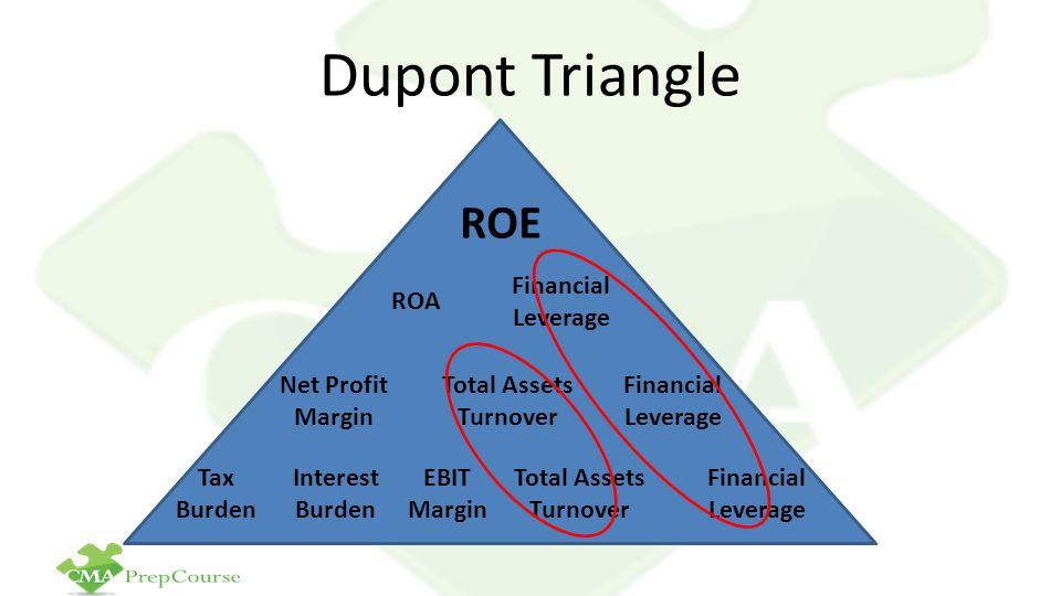 Dupont Triangle ROE ROA Financial Leverage Net Profit Margin Total Assets Turnover Financial Leverage Total Assets Turnover EBIT Margin Interest Burde
