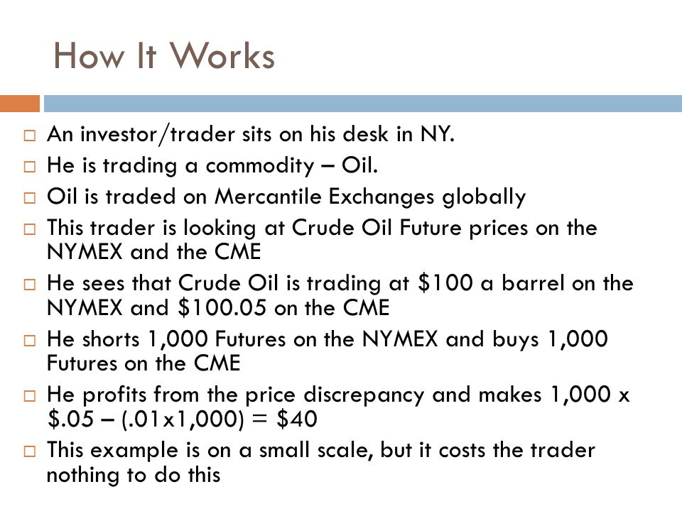 How It Works  An investor/trader sits on his desk in NY.