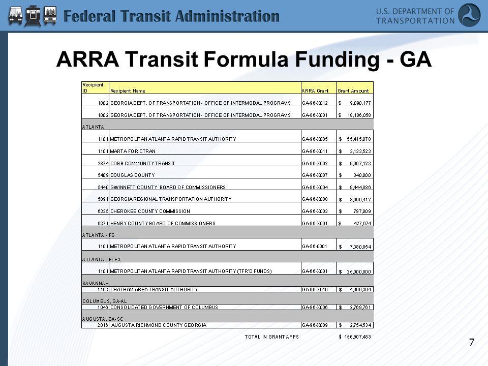 7 ARRA Transit Formula Funding - GA