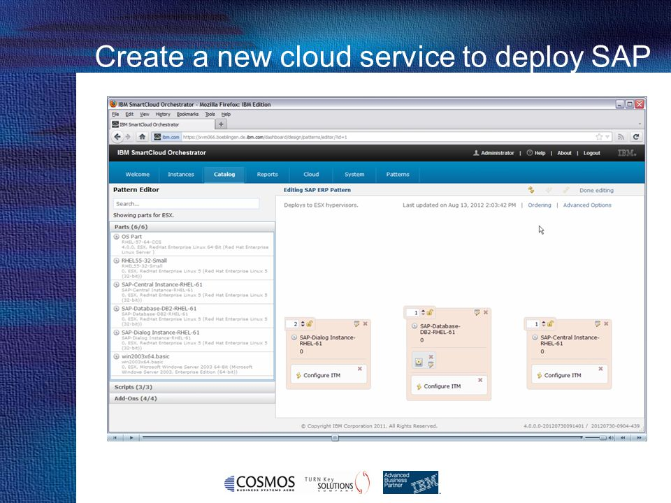 22 Cosmos Business Systems & IBM Hellas Create a new cloud service to deploy SAP