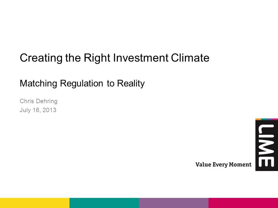 Summary o Regulators need to review regulatory framework to align with market realities.