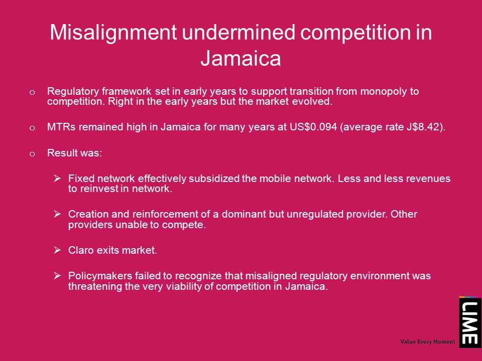 Jamaica fixed it o Evidence based policymaking prevailed.
