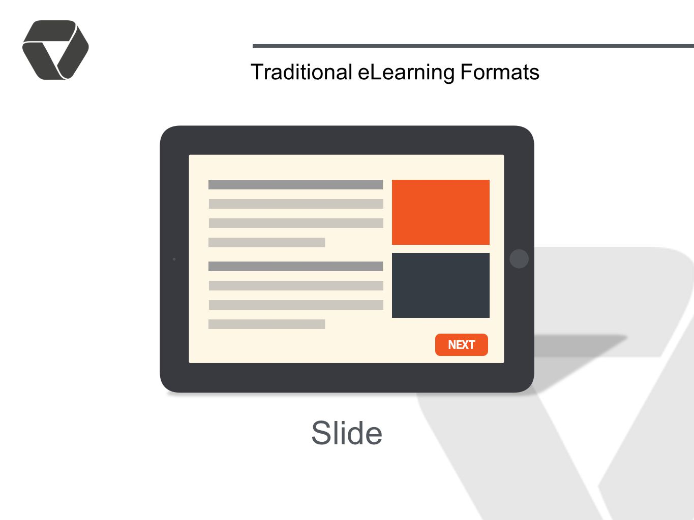 Slide Traditional eLearning Formats
