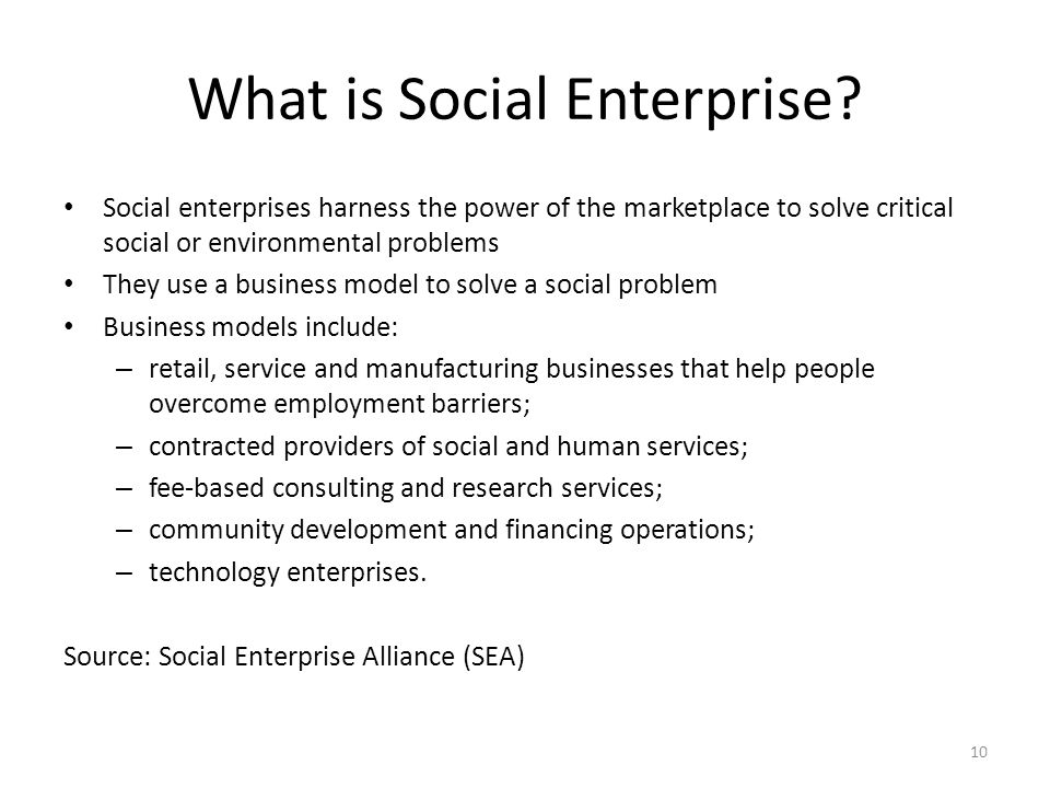 What is Social Enterprise.