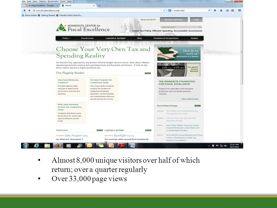 1/12/2012 Almost 8,000 unique visitors over half of which return; over a quarter regularly Over 33,000 page views
