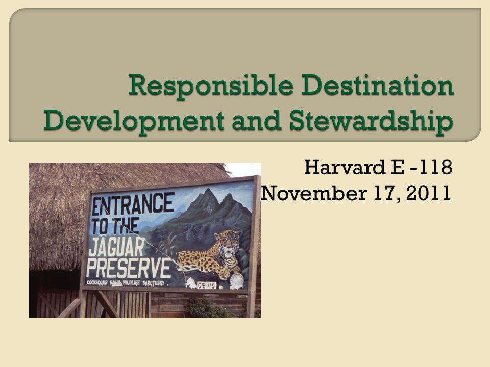 Harvard E -118 November 17, 2011