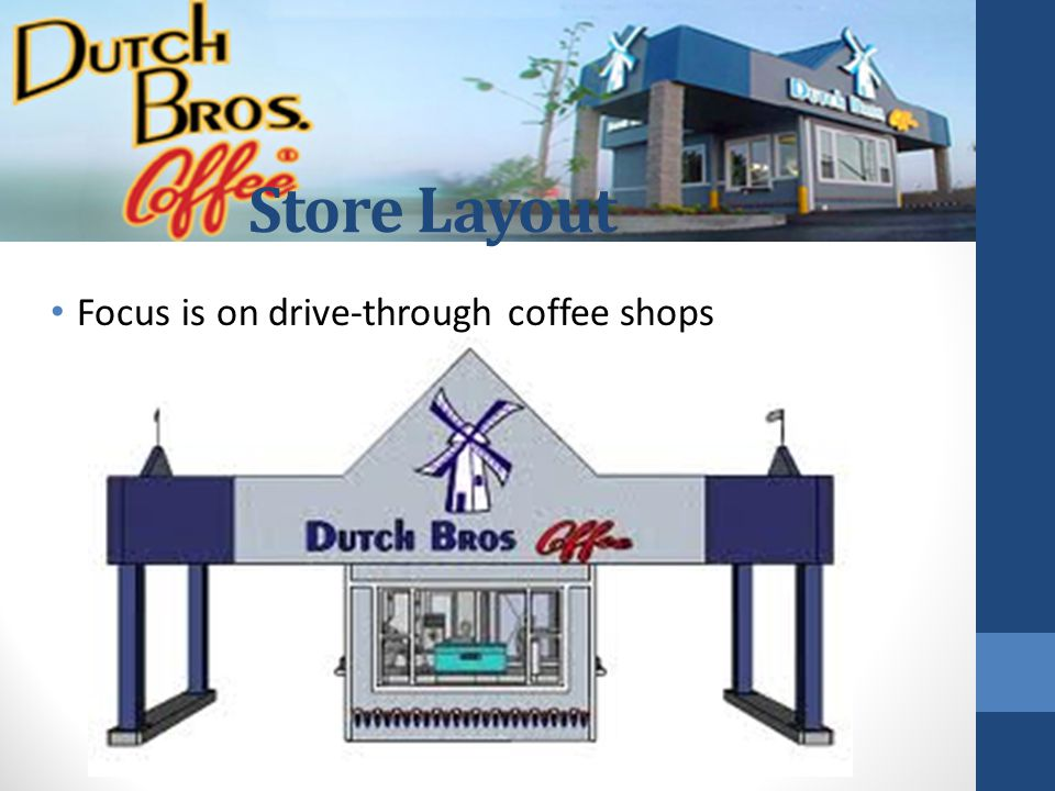 Store Layout Focus is on drive-through coffee shops