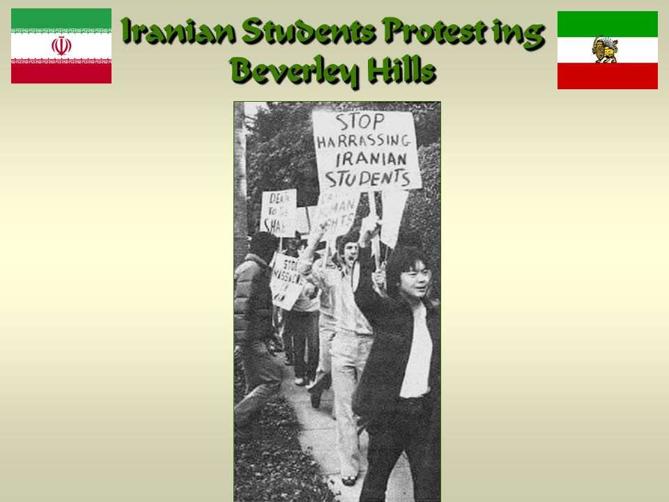 Iranian Students Protest ing Beverley Hills