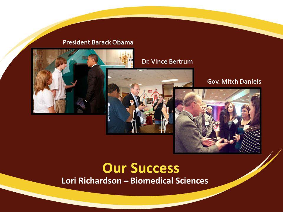 Our Success Dr. Vince Bertrum Gov.