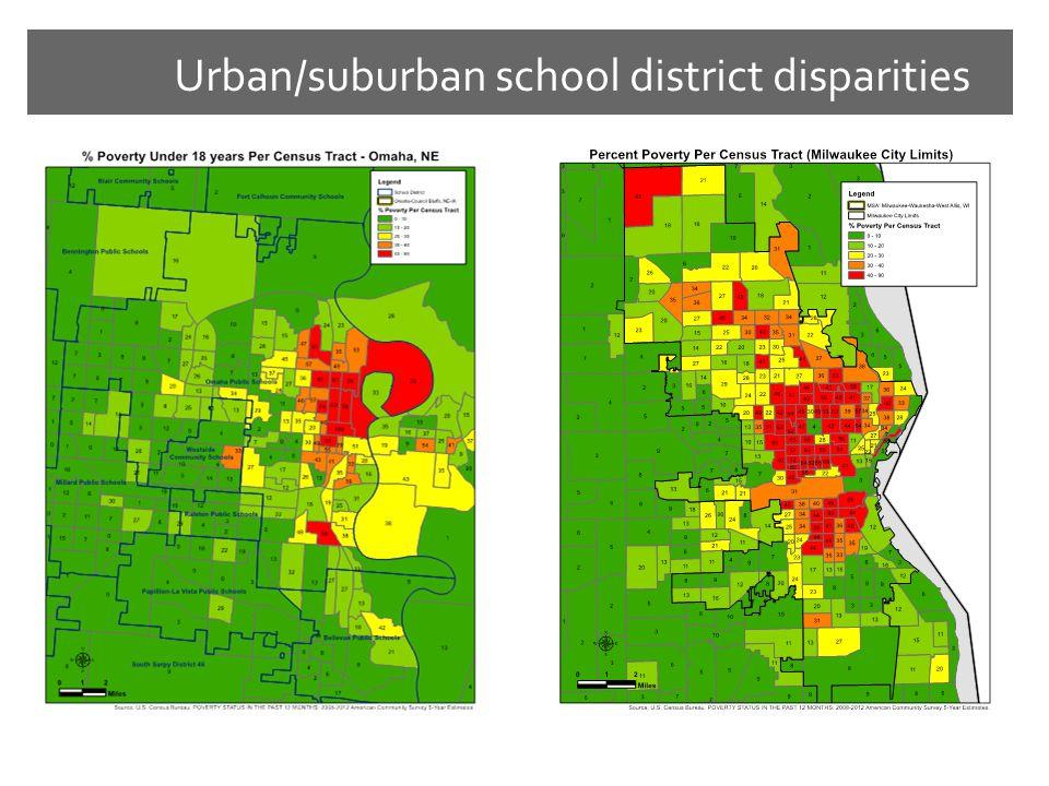 Urban/suburban school district disparities