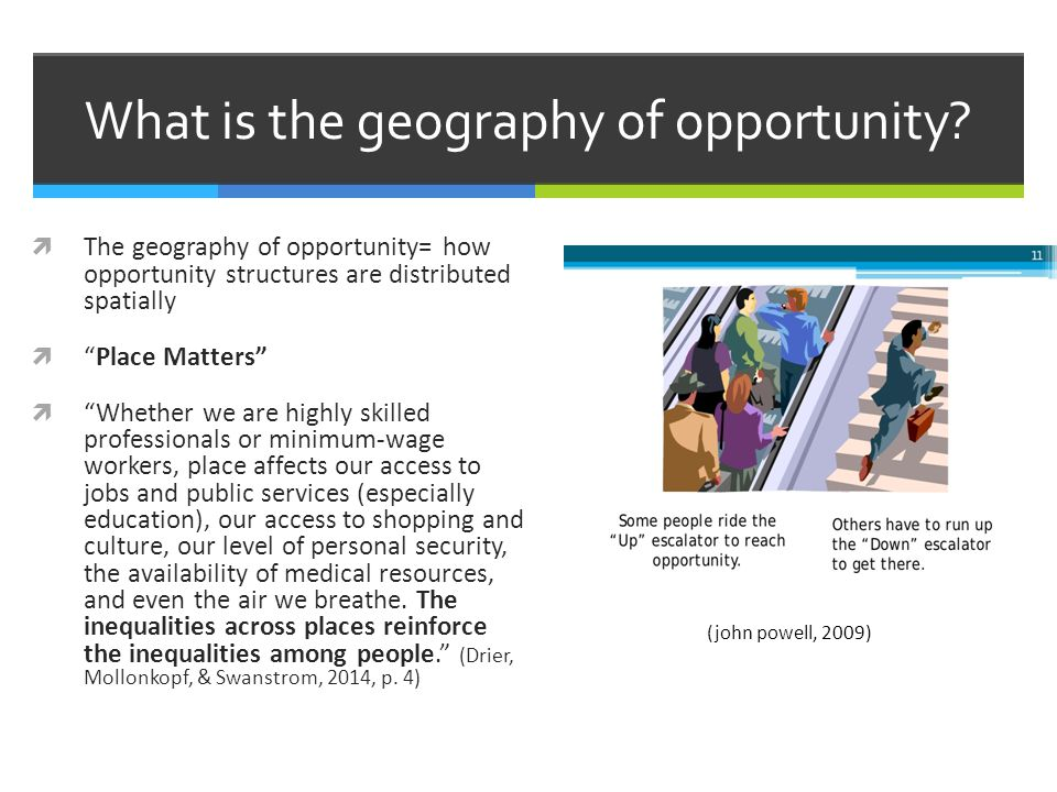 What is the geography of opportunity.