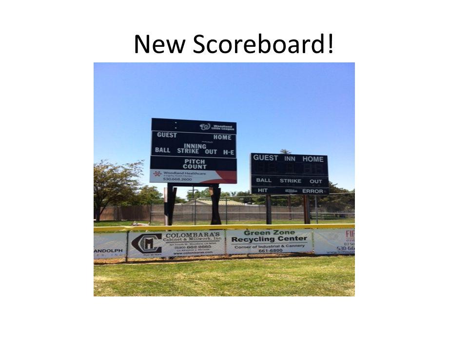 New Scoreboard!