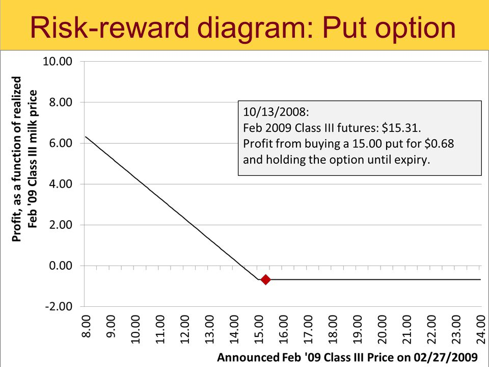 Risk-reward diagram: Put option