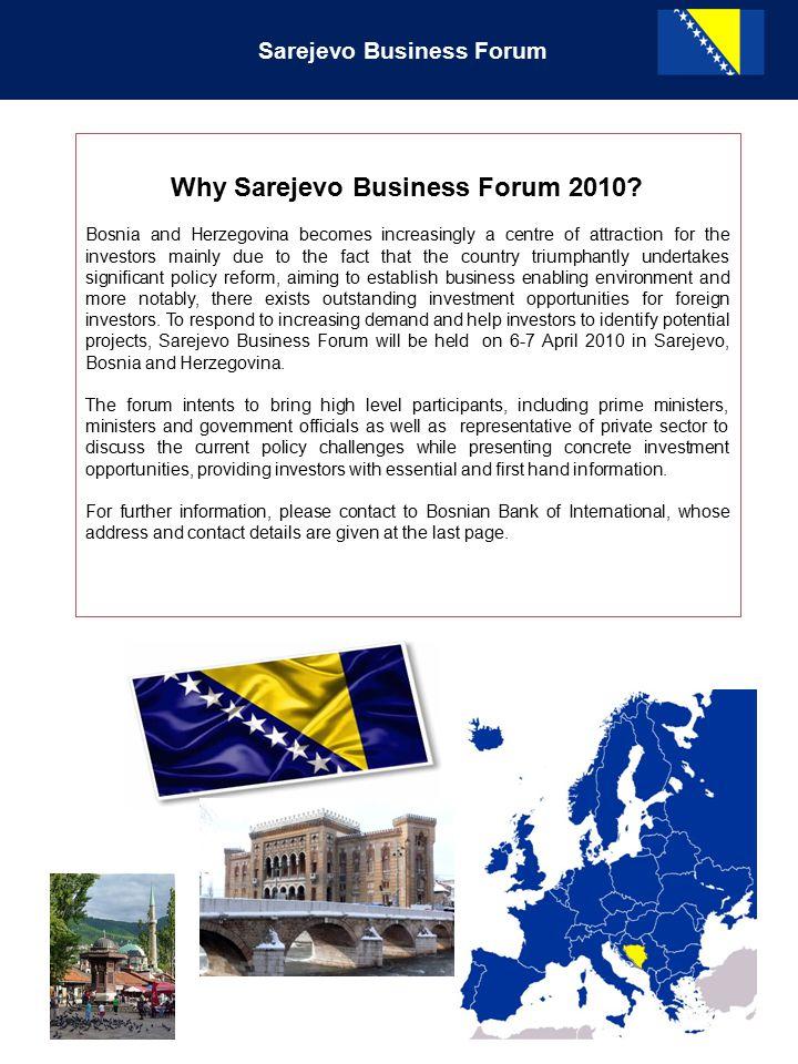 Sarejevo Business Forum Why Sarejevo Business Forum 2010.