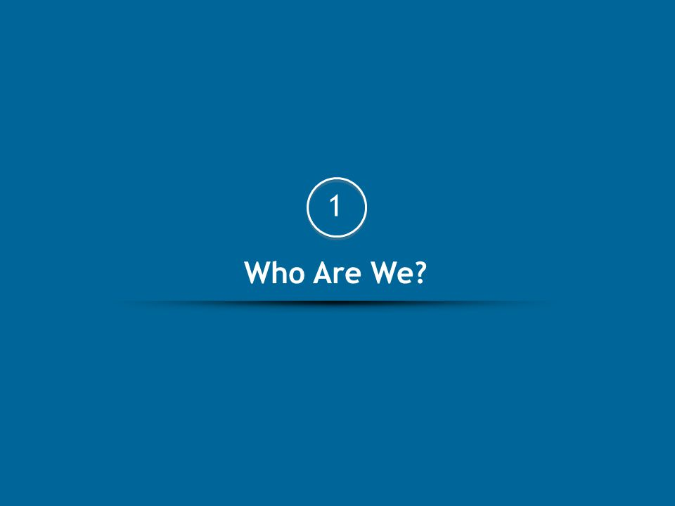 Who Are We? 1