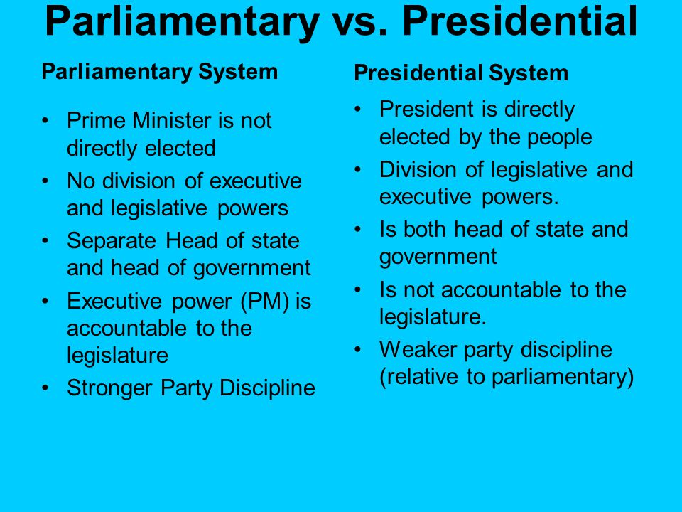 Parliamentary vs.