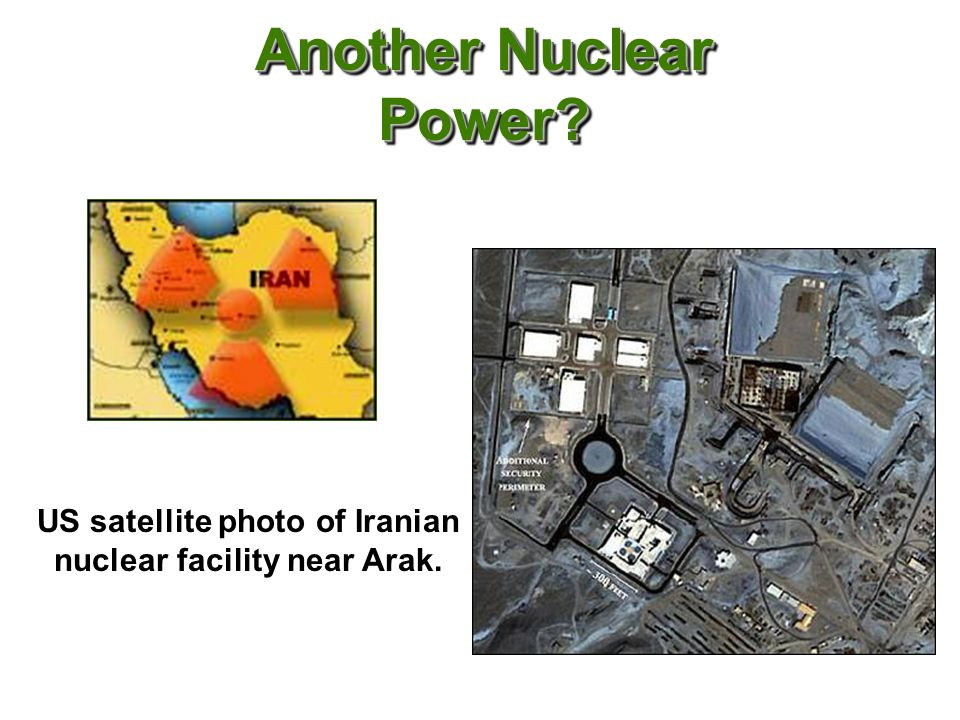 Another Nuclear Power US satellite photo of Iranian nuclear facility near Arak.