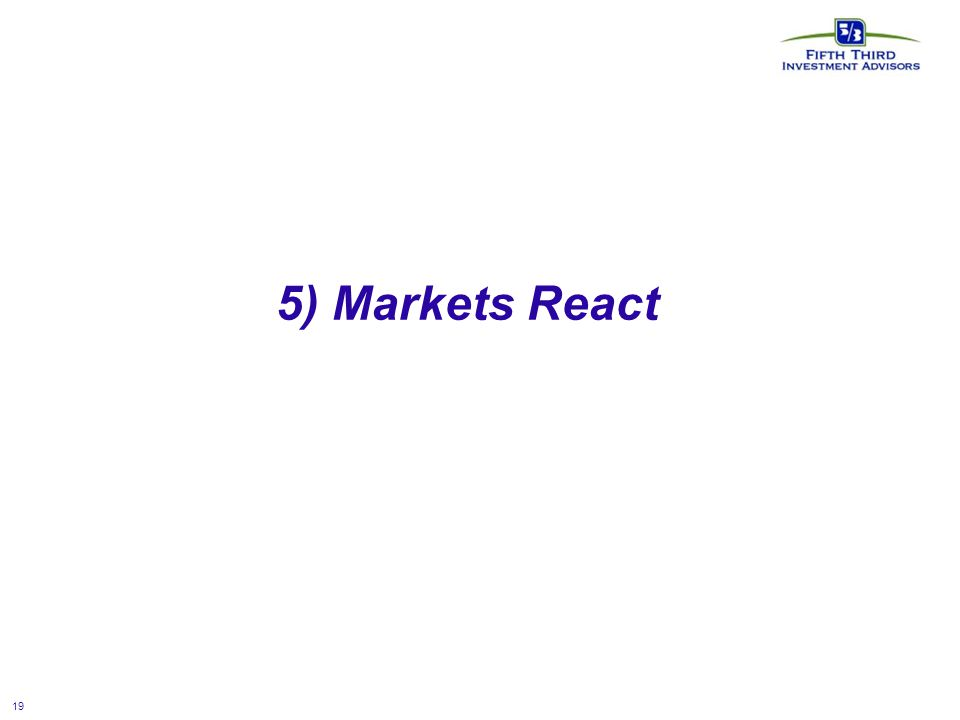 19 5) Markets React