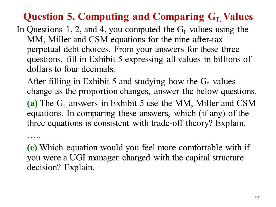 Question 4. Computing CSM Values Using the CSM with Growth Fill in the blank cells in Exhibit 4.