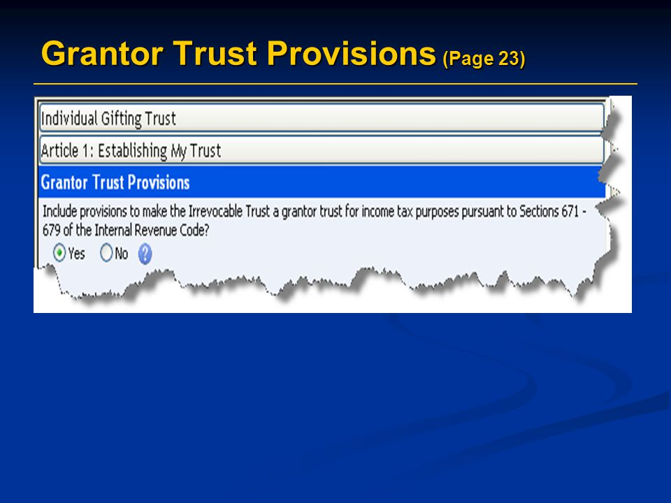 Grantor Trust Provisions (Page 23)