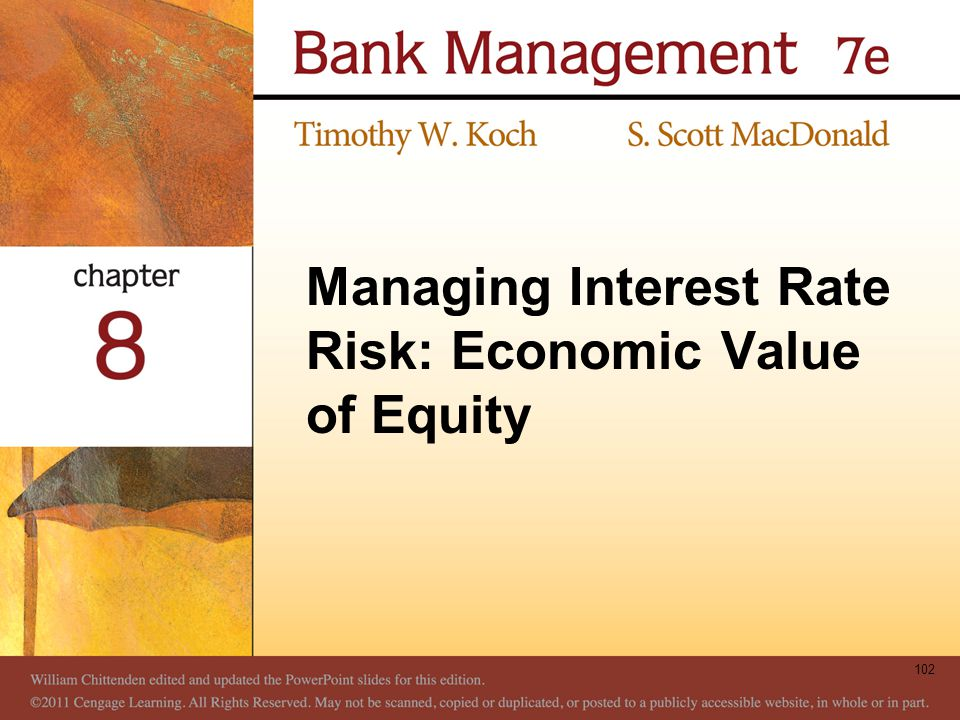 Managing Interest Rate Risk: Economic Value of Equity 102
