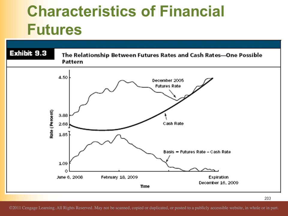 Characteristics of Financial Futures 203