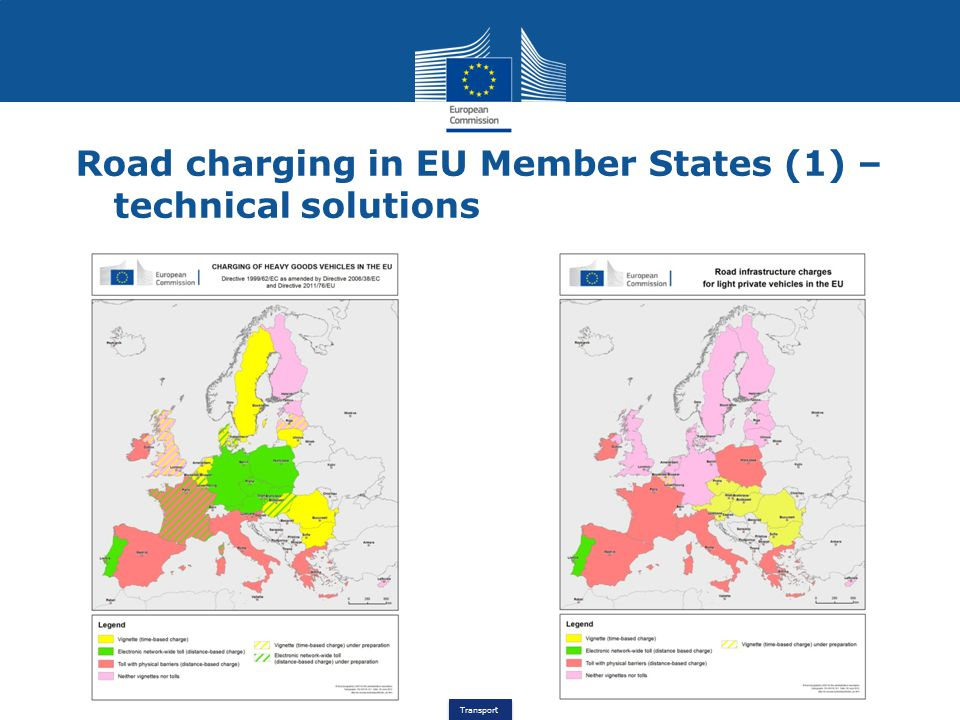 Transport Road charging in EU Member States (1) – technical solutions