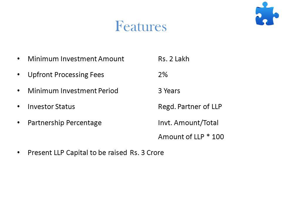 Features Minimum Investment AmountRs.