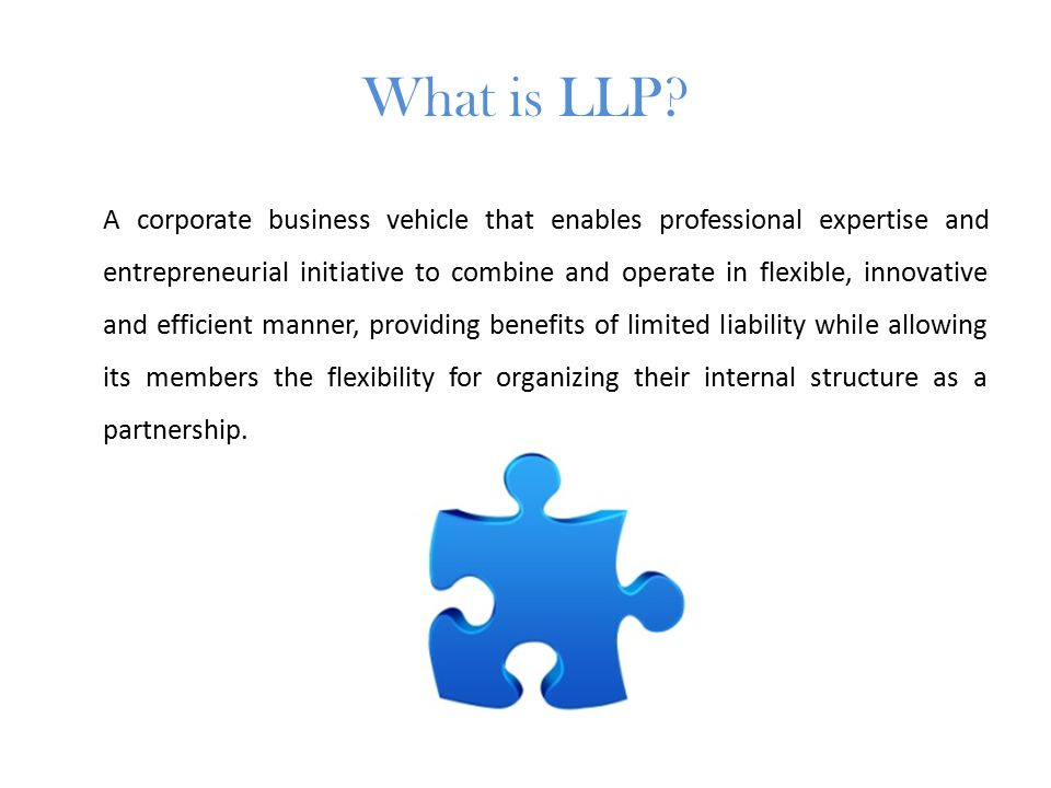 What is LLP.