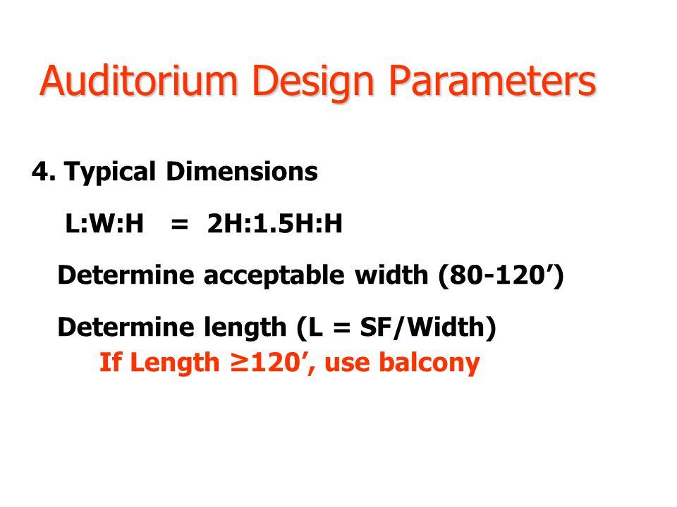 Auditorium Design Parameters 4.