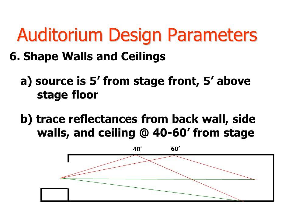 Auditorium Design Parameters 6.