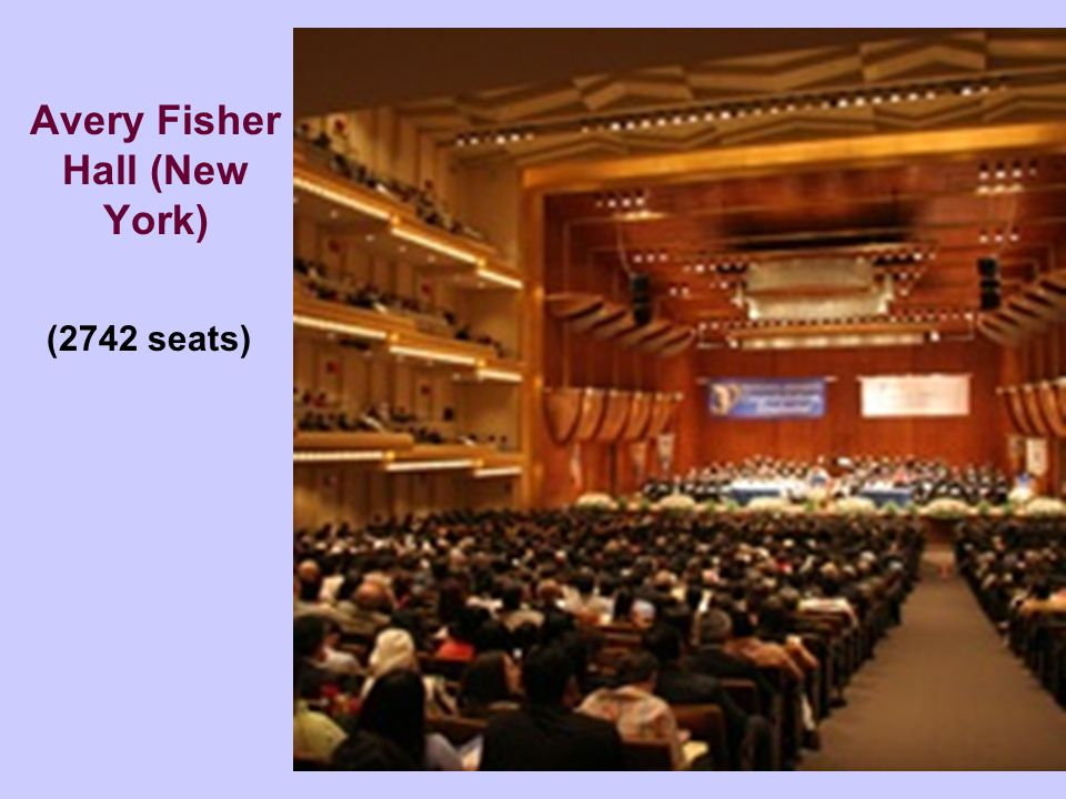 Avery Fisher Hall (New York) (2742 seats)