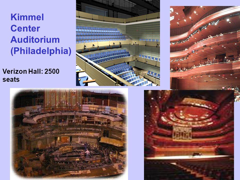 Kimmel Center Auditorium (Philadelphia) Verizon Hall: 2500 seats
