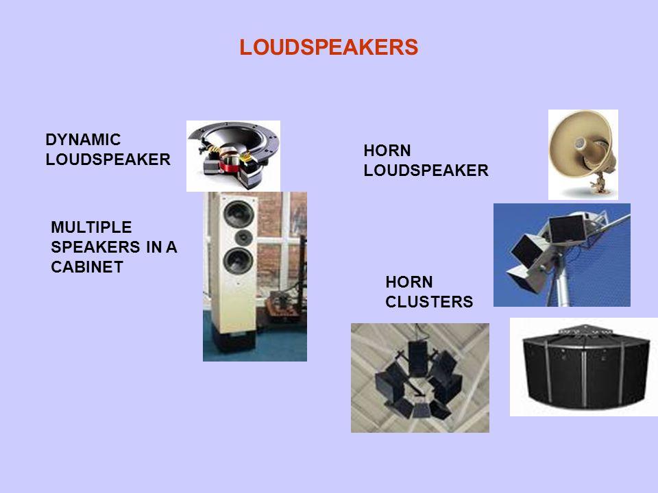 LOUDSPEAKERS DYNAMIC LOUDSPEAKER MULTIPLE SPEAKERS IN A CABINET HORN LOUDSPEAKER HORN CLUSTERS