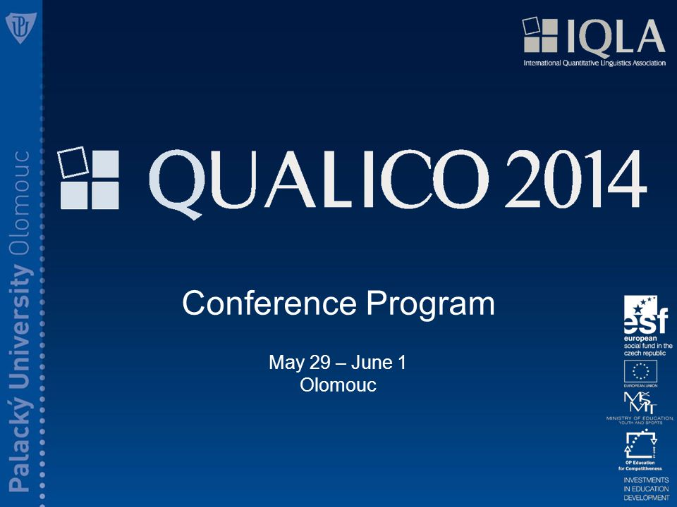 Conference Program May 29 – June 1 Olomouc